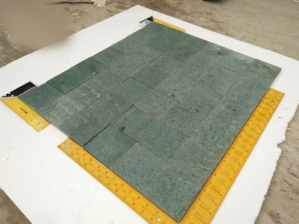 Sukabumi Green Stone Tiles Honed Pool Coping Wet Condition