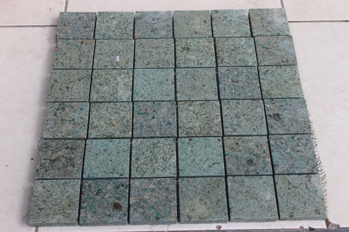 Sukabumi Green Stone Swimming Pool Mosaic Tiles  Natural Bali Green Swimming Pool Mosaic  Indonesia Green Sukabumi Swimm
