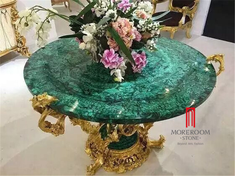 Green malachite price dining table top