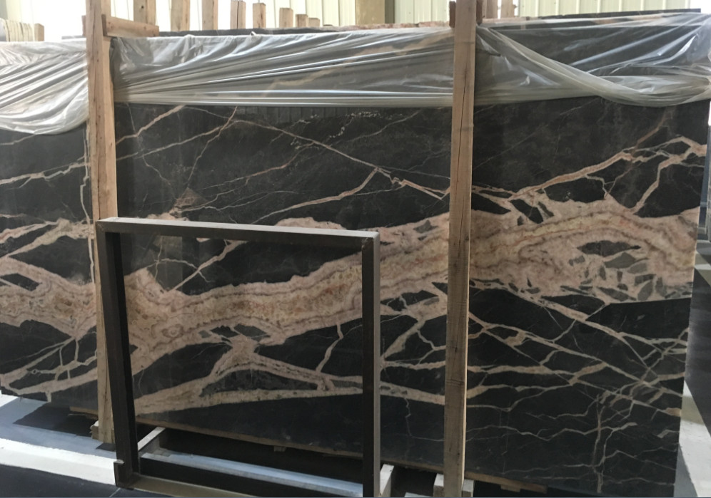 Grey Brown Emperador Marble Slabs