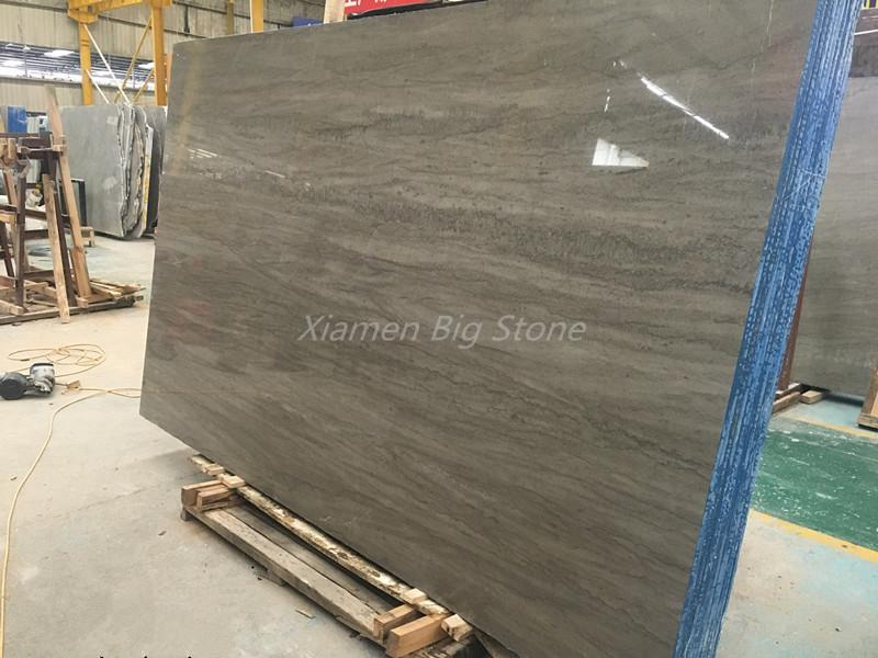 Chinese Polished Grey Marble Slab