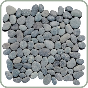 Grey Pebble Mosaic Grey Natural Pebble Stone Mosaic Bali Gardens Pebble Stone