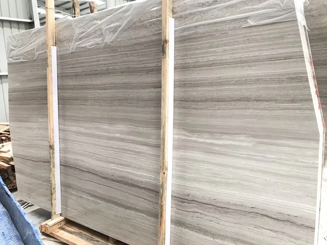 Grey Wood Marble Slab