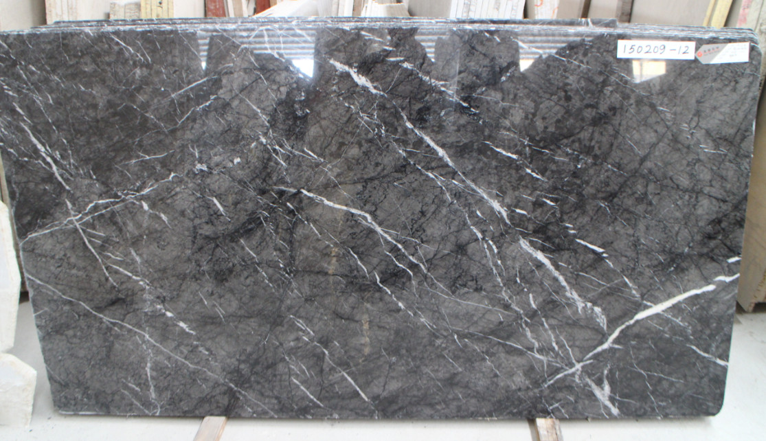 Grigio Carnico Grey Polished Marble Slabs