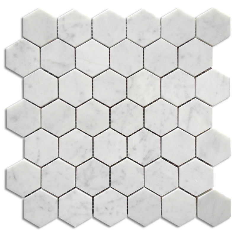 Bianco carrara hexagon mosaic