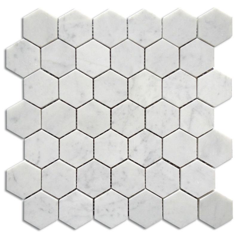 Bianco carrara hexagon mosaic