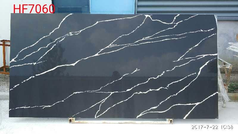 Calacatta black quartz slab