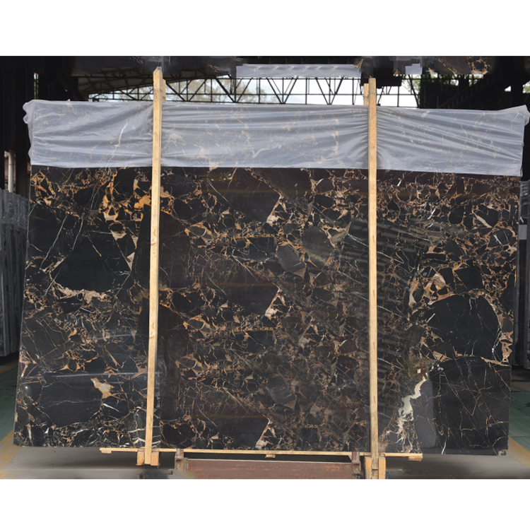 Athena Black And Gold Vein Marble