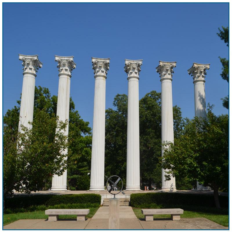 Marble Column Pillars for garden decoration