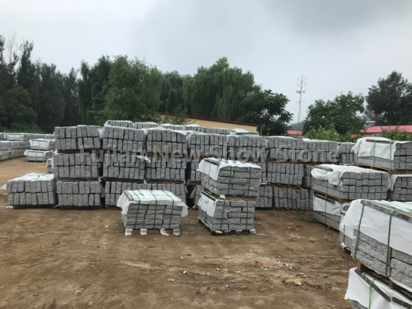 G603 granite white grey kerbstone