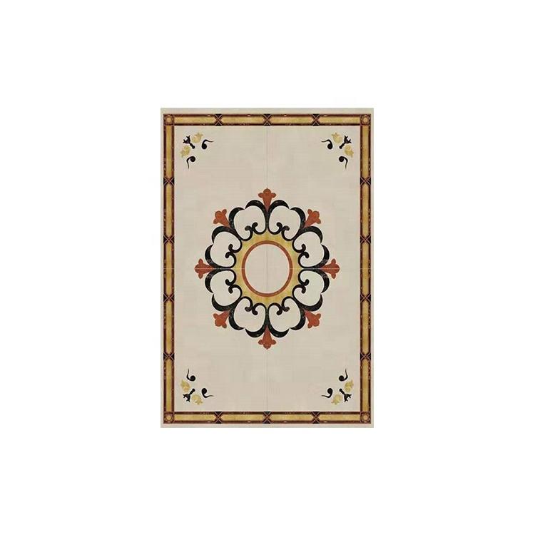 Flower Waterjet Marble Tiles Design Floor Pattern