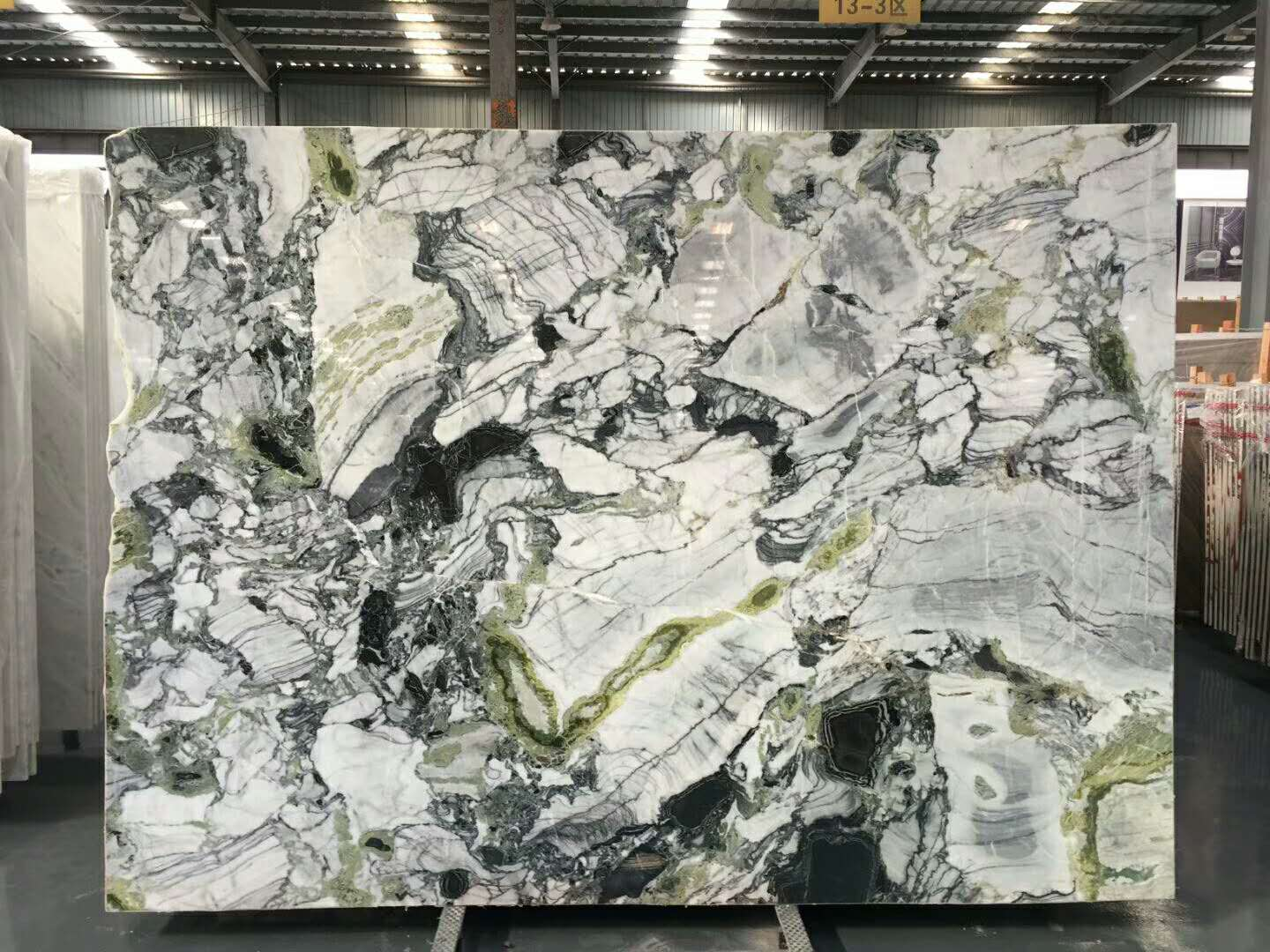 Herbal Green Polished Marble Slabs