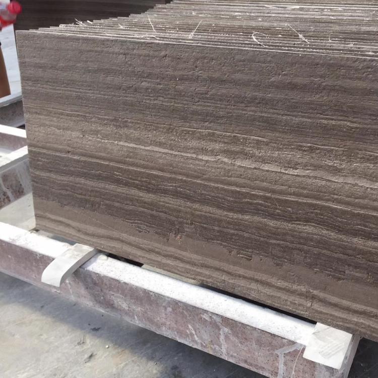 Coffee Wood Brown Wood Marble Flooring Tiles