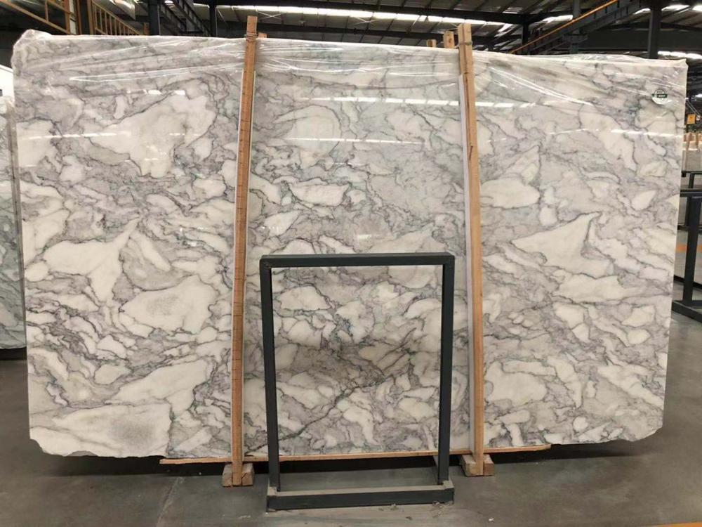 White Mabrle Arabescato Marble Slab