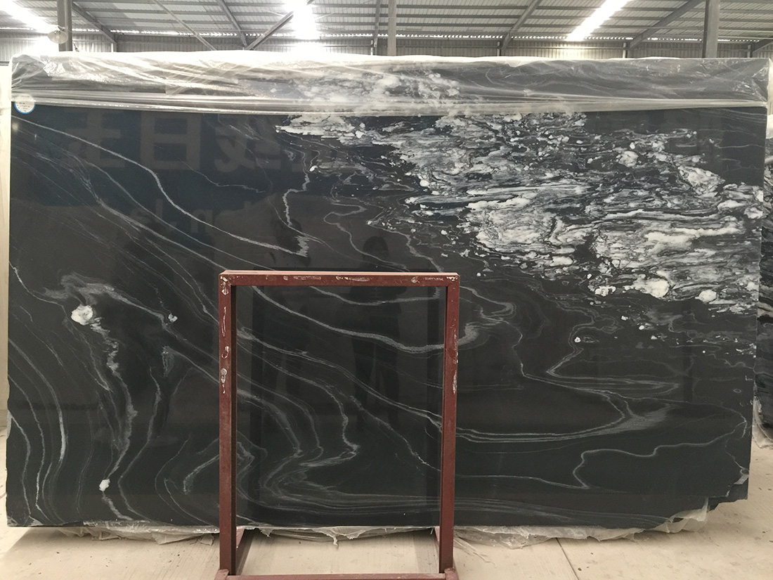 Orobico Dark marble slabs black Marble