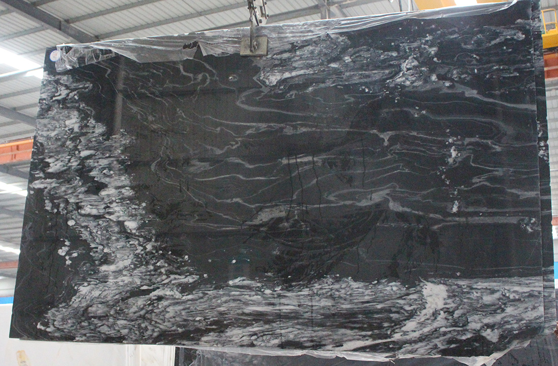 Hilton China black marble slabs