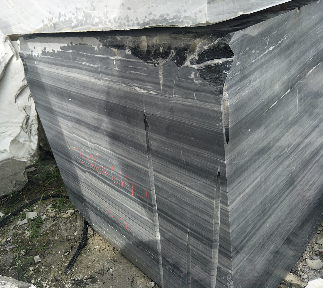 natural stone black wooden marble block