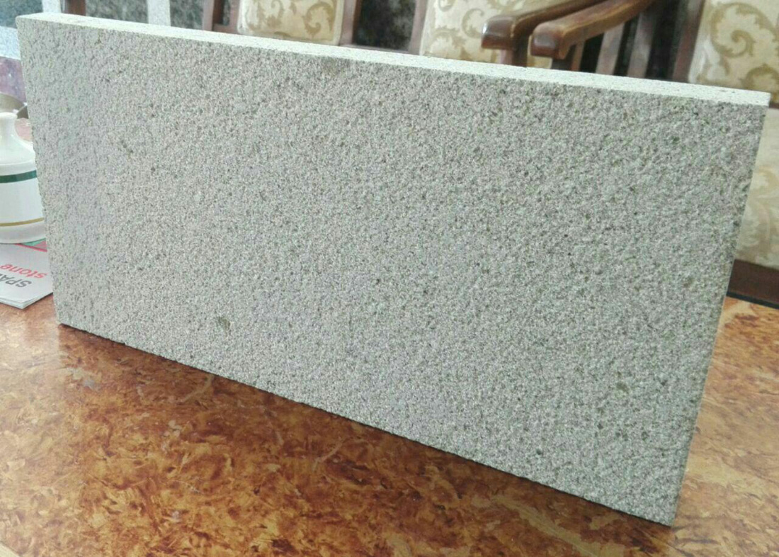 Bushhammed granite tiles