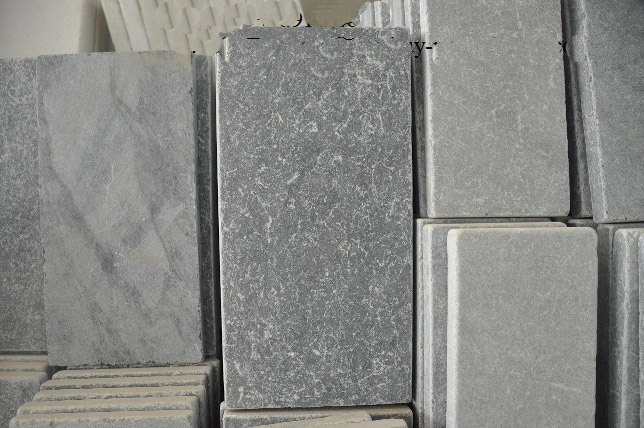 Tumbled silver grey paver