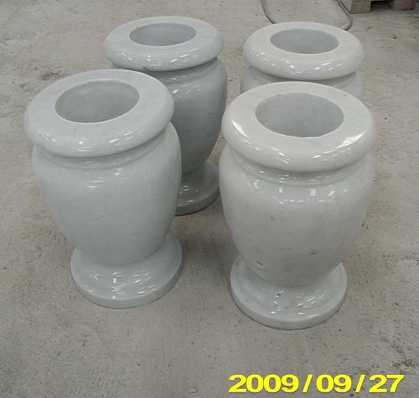White marble vase
