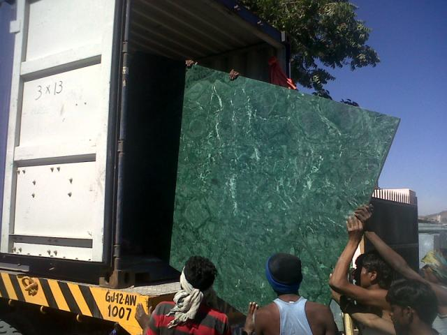 Indian Polished Green Marble Slabs
