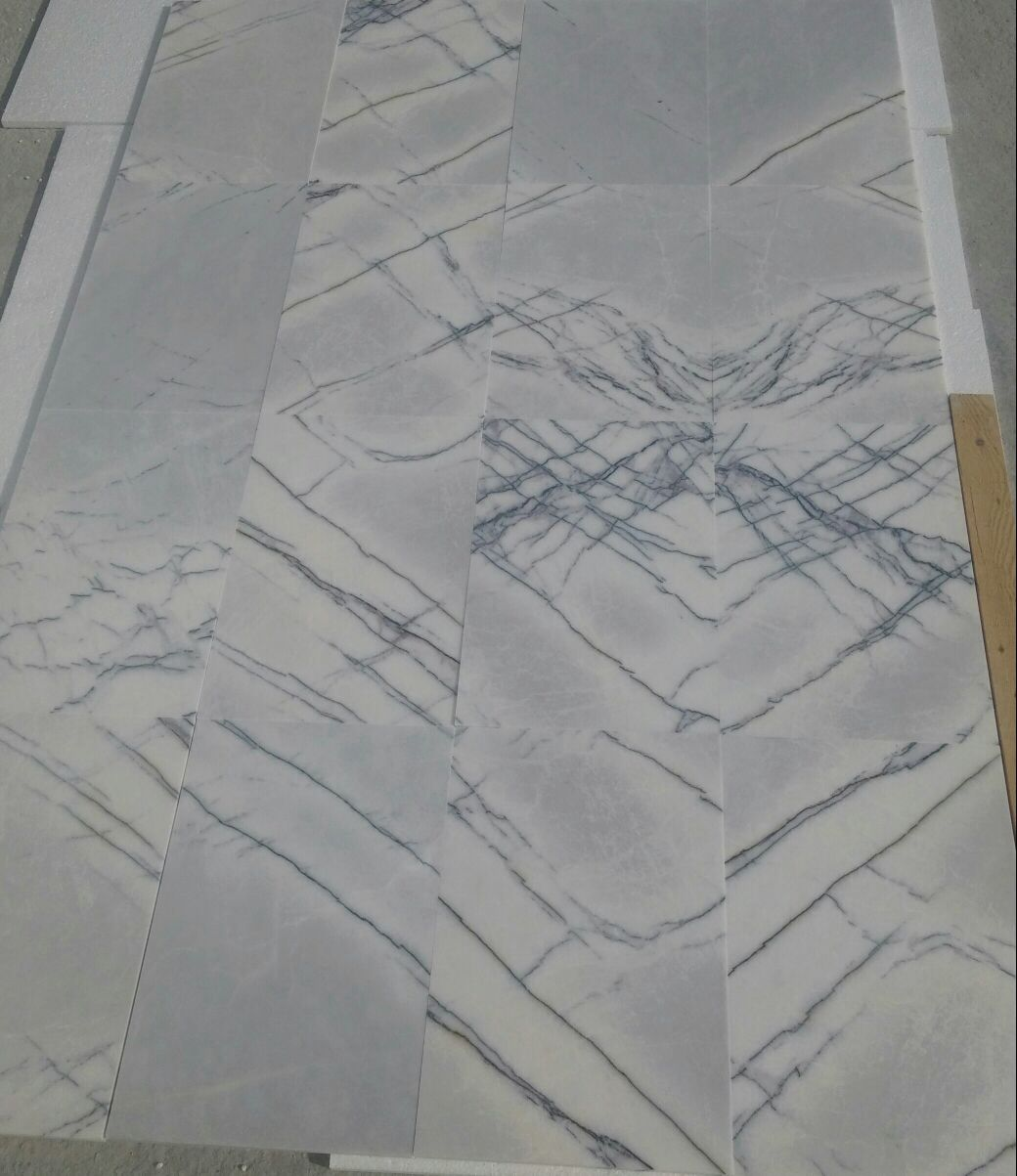 Lilac Marble White Polished Marble Tile