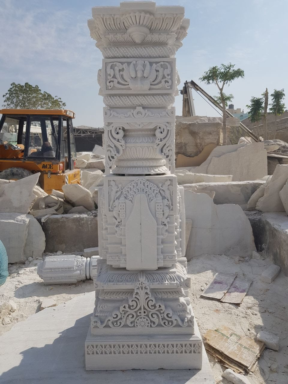 White Marble Cnc Wall Panels