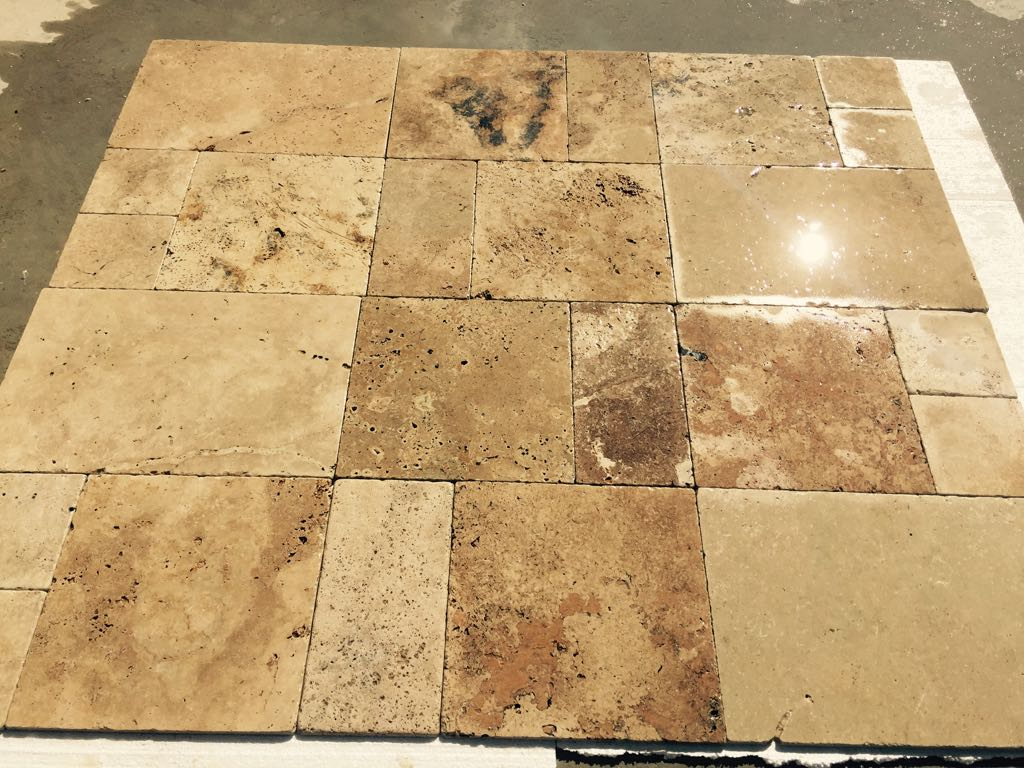 Ahde Economy Travertine French Pattern Set