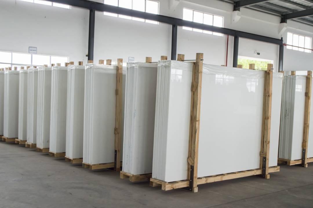 Super nanoglass white crystallized glass stone panel nano glass