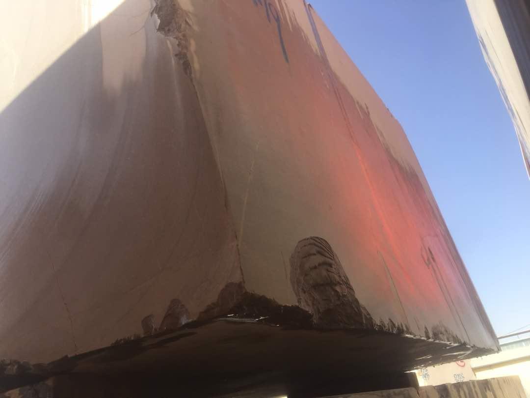 Beige Travertine Blocks and Slabs from Iran