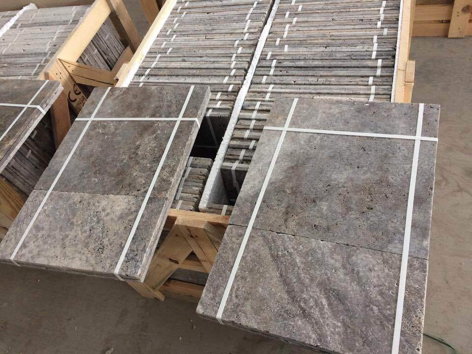 Silver Travertine Grey Travertine Tiles