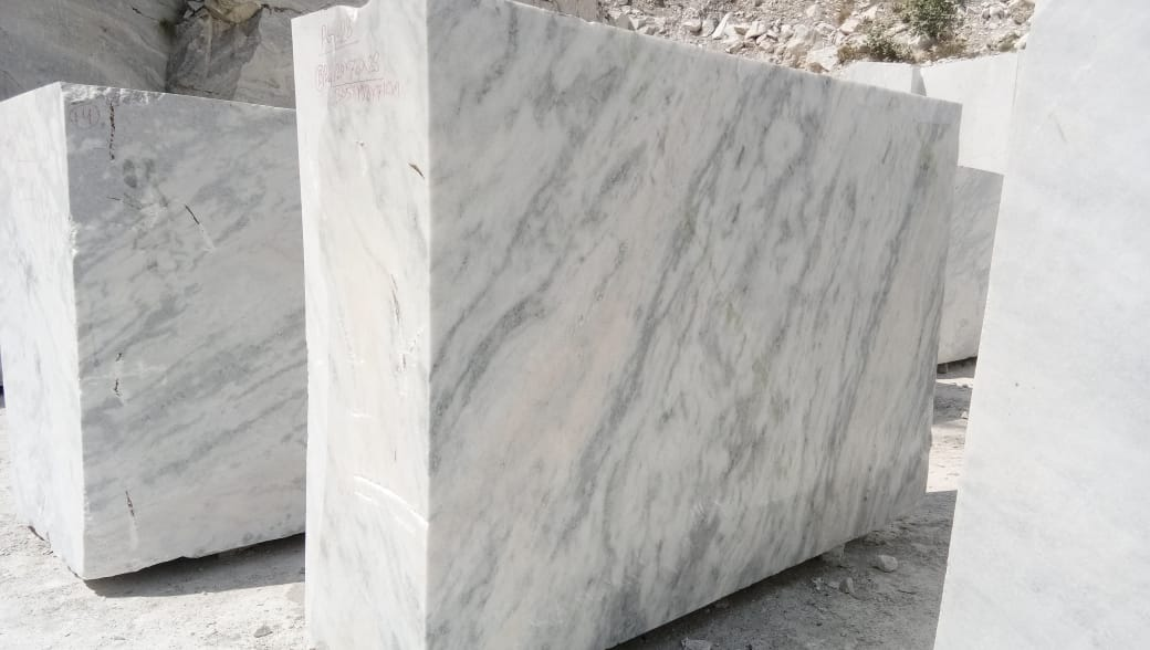 White Marble Blocks Natural Marble from India