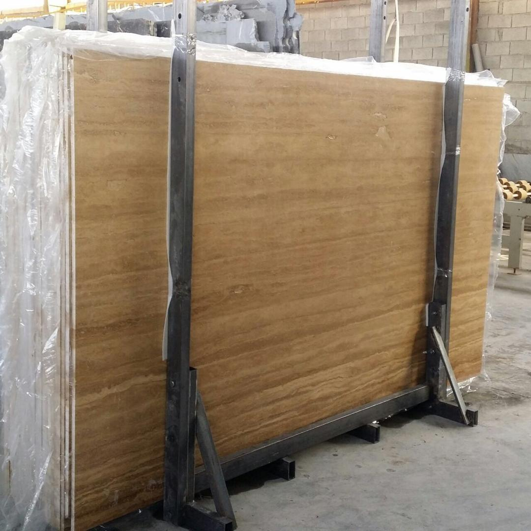Beige Travertine Slabs Polished Iranian Travertine Slabs