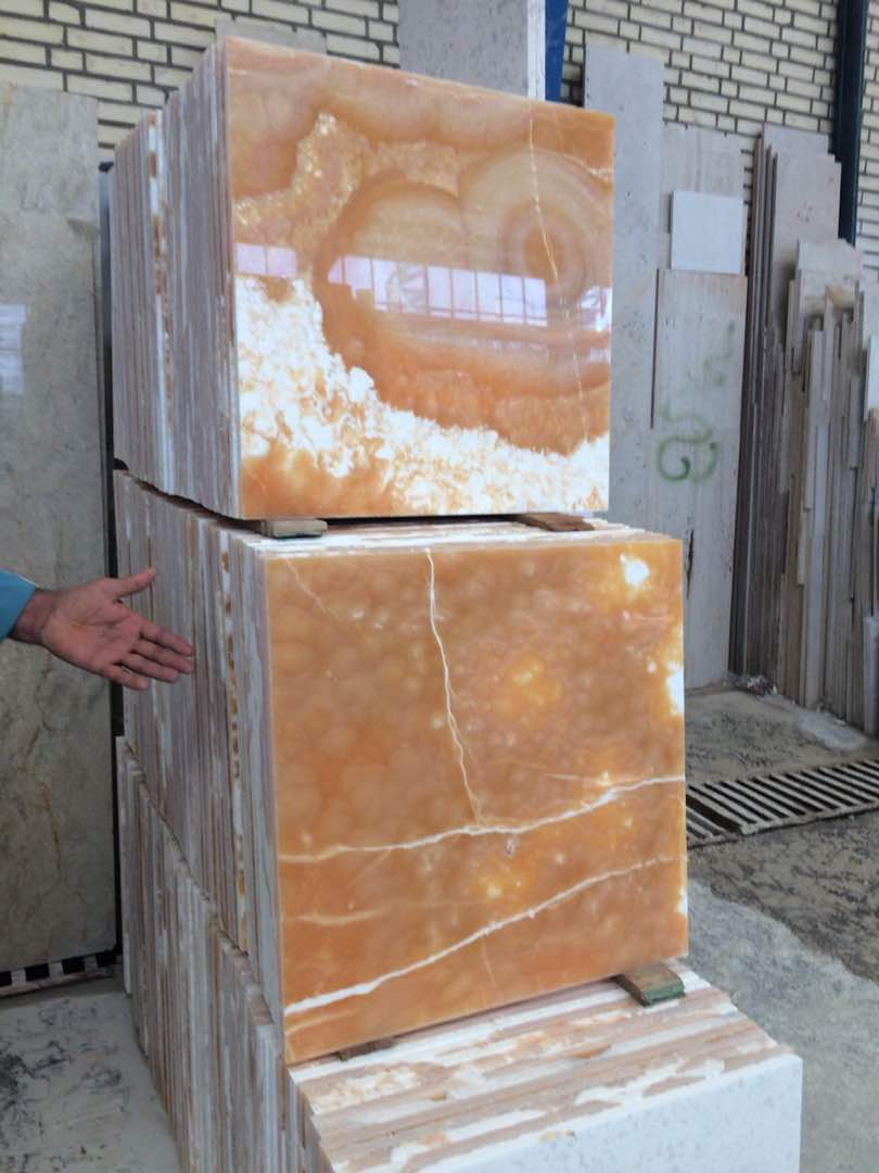Orange Onyx Tiles