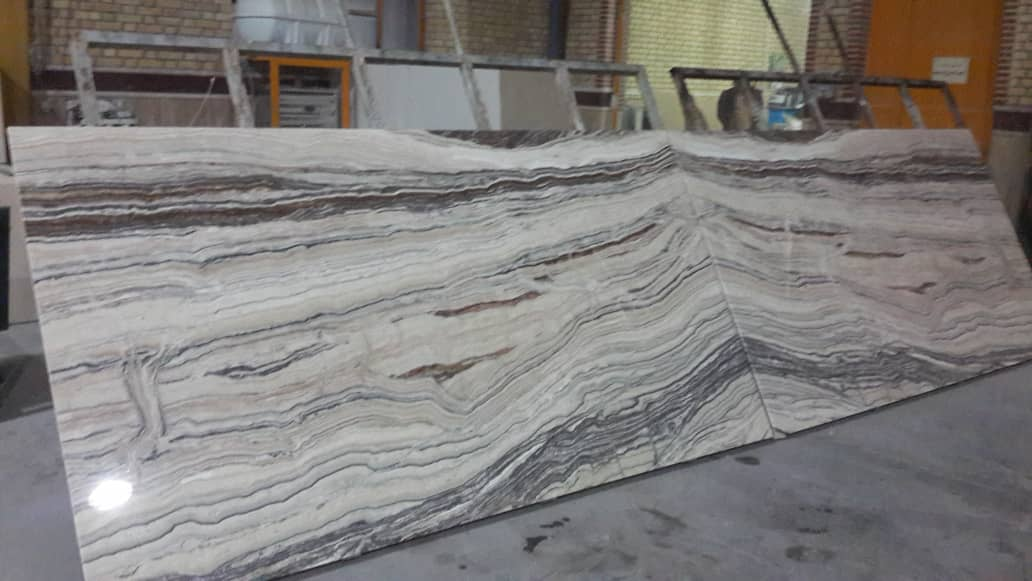 White Tiger Polished Traonyx Slabs from Iran