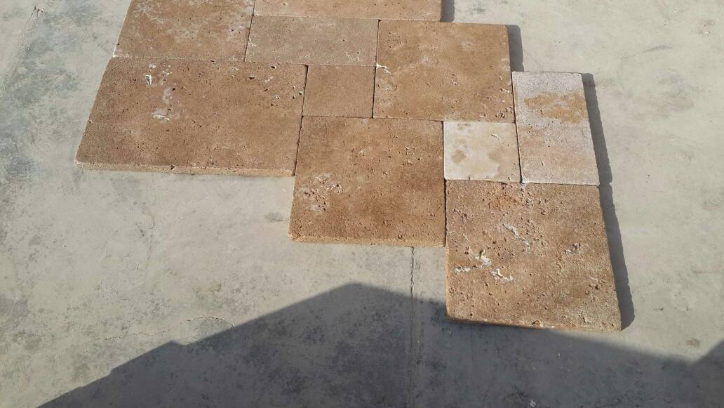 Tumble Beige Travertine Pool Coping