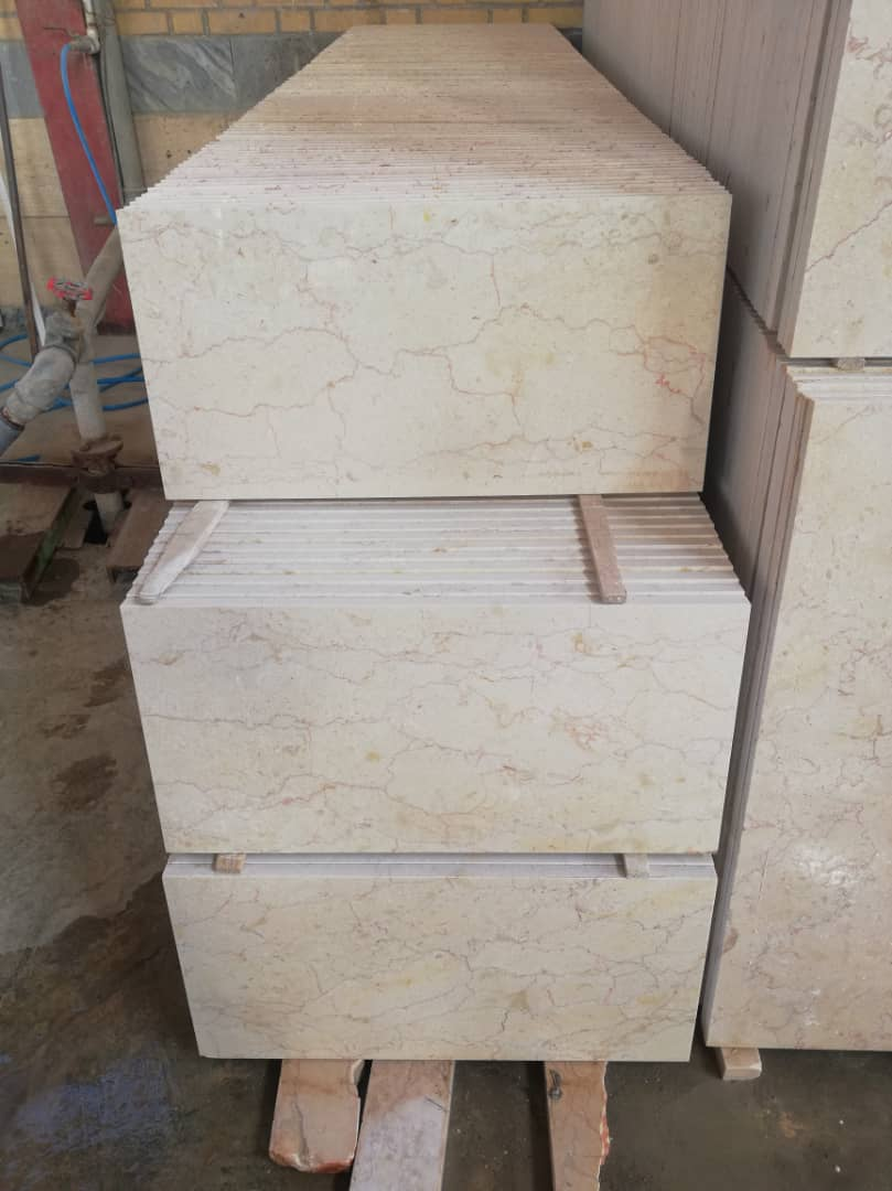 Medium Beige Tiles Polished Iranian Marble Tiles