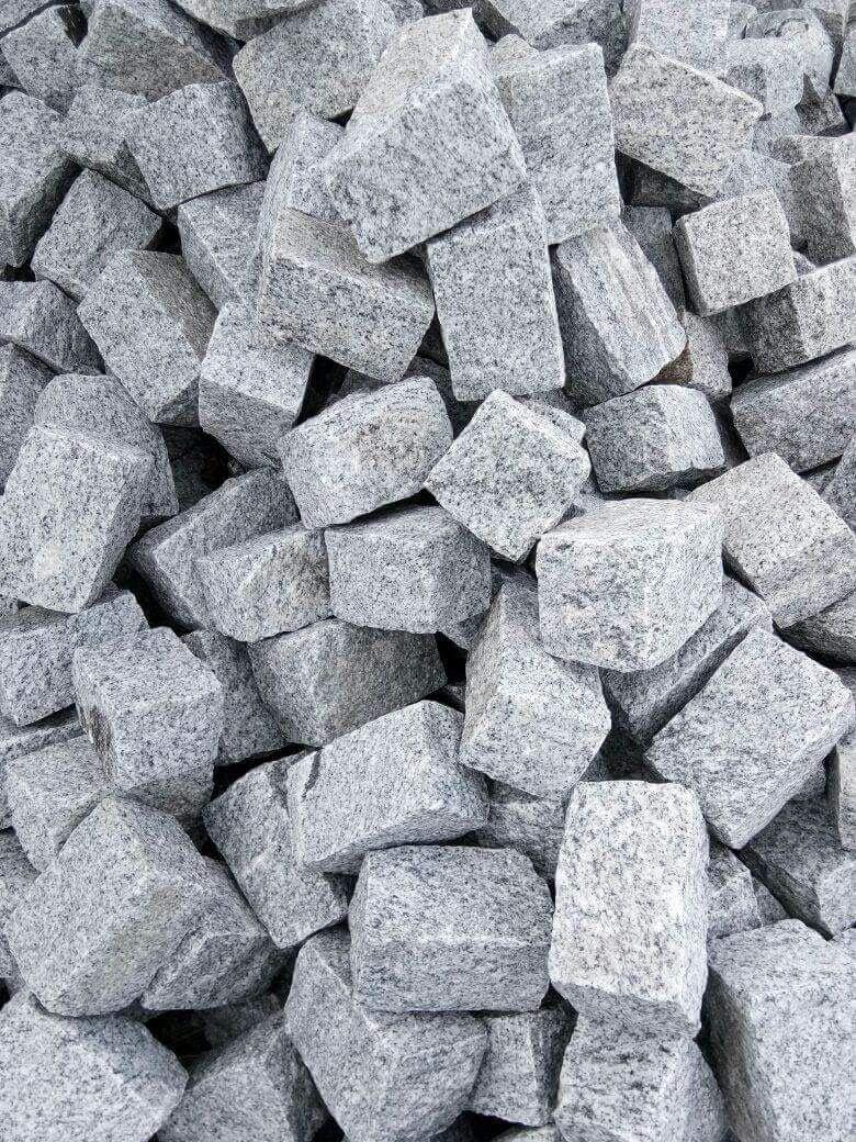 Indian White Granite Cube Stone