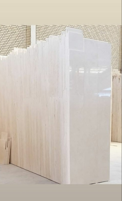 White Limestone Tiles Iranian Polished Tiles