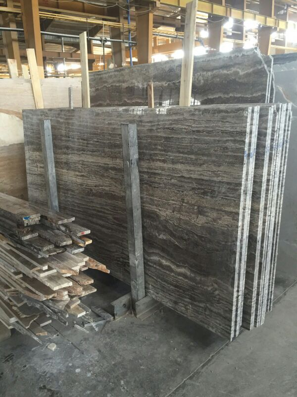 Iranian silver Travertine Slabs