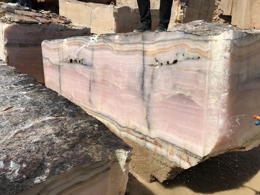 Pink Onyx Stone Blocks Iran Onyx Blocks