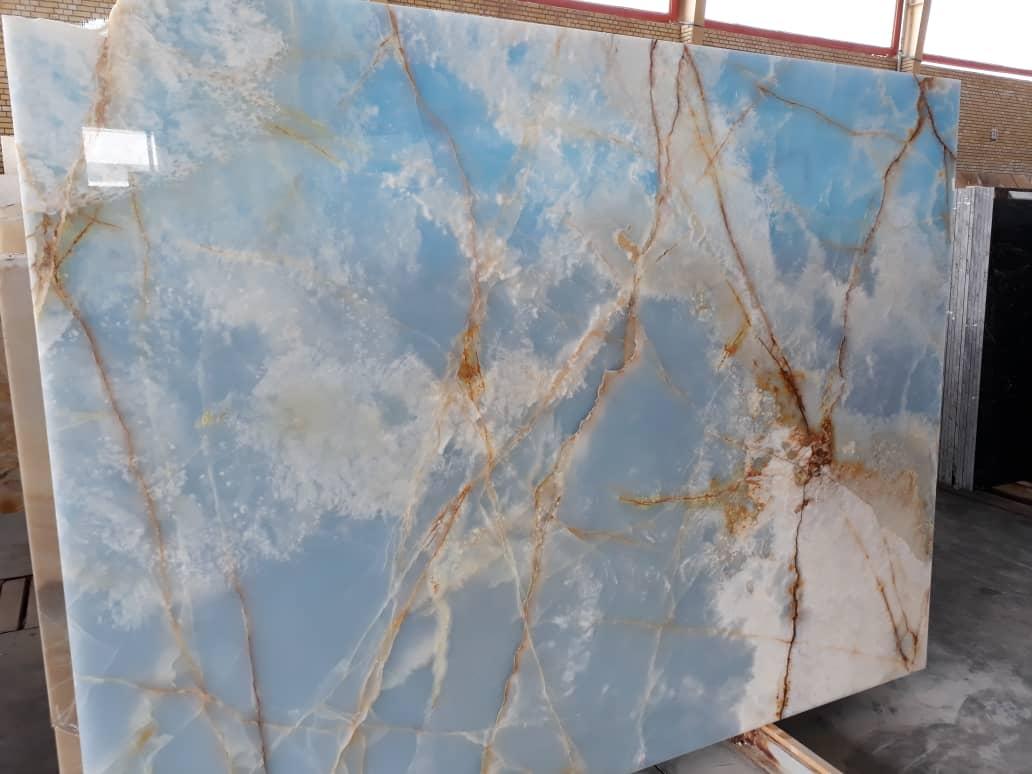 Blue Onyx Slabs Polished Blue Stone Slabs