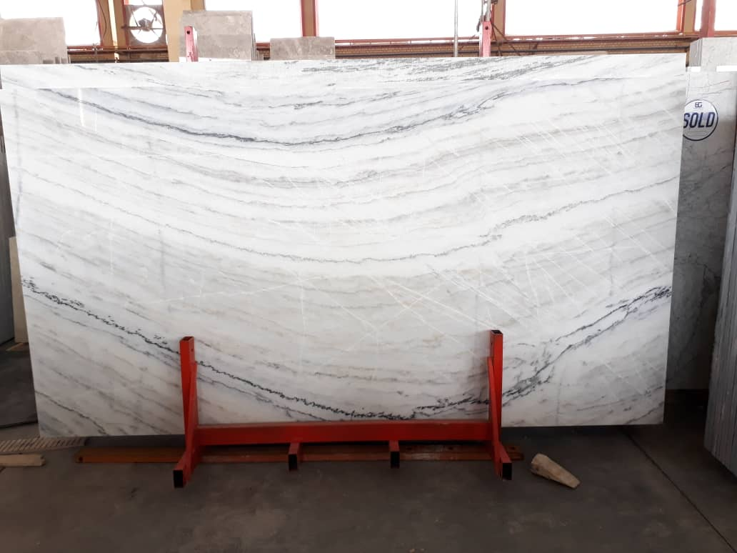Ocean Marble Polished White Stone Slabs
