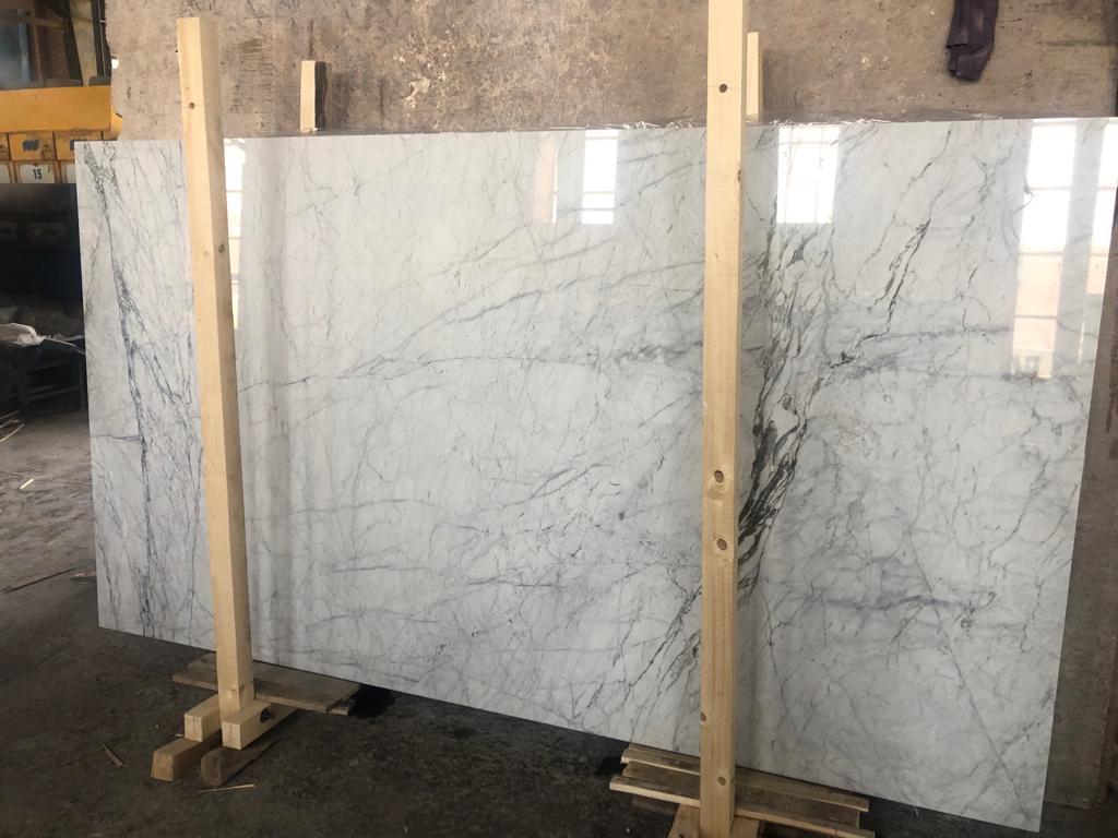 Sky White Marble Polished Slabs