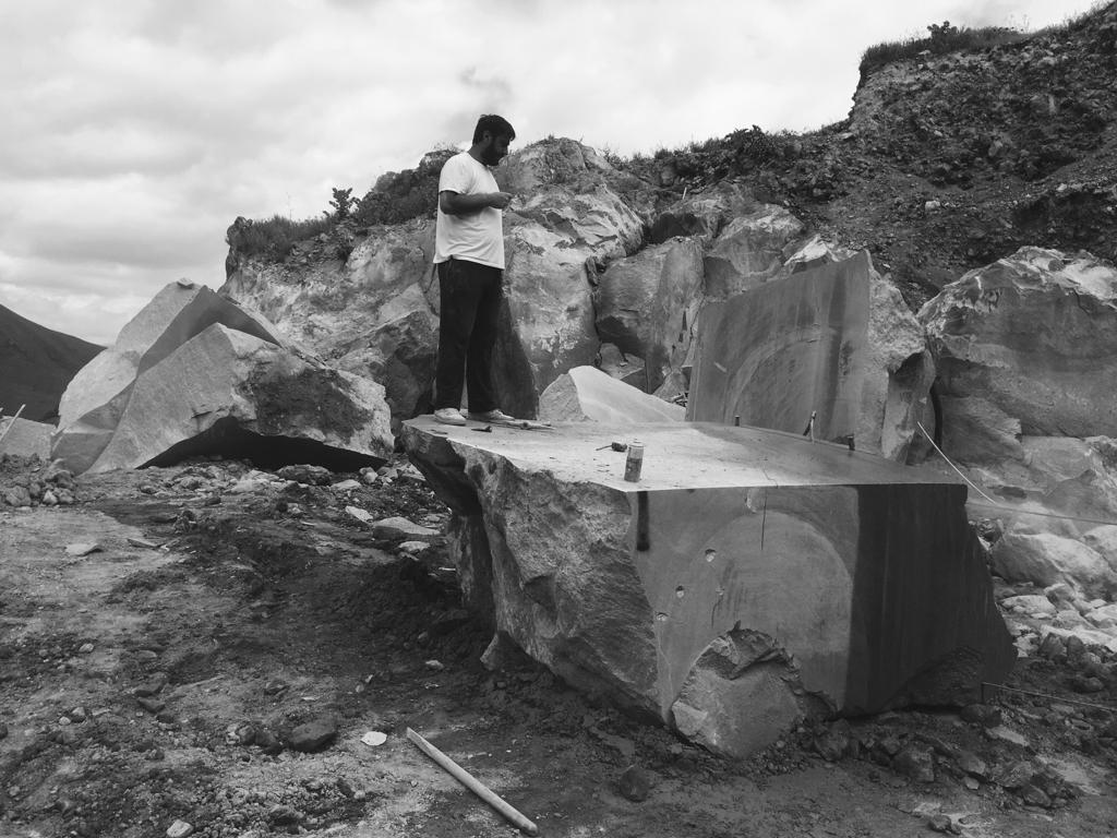 Armenian Grey Basalt Blocks