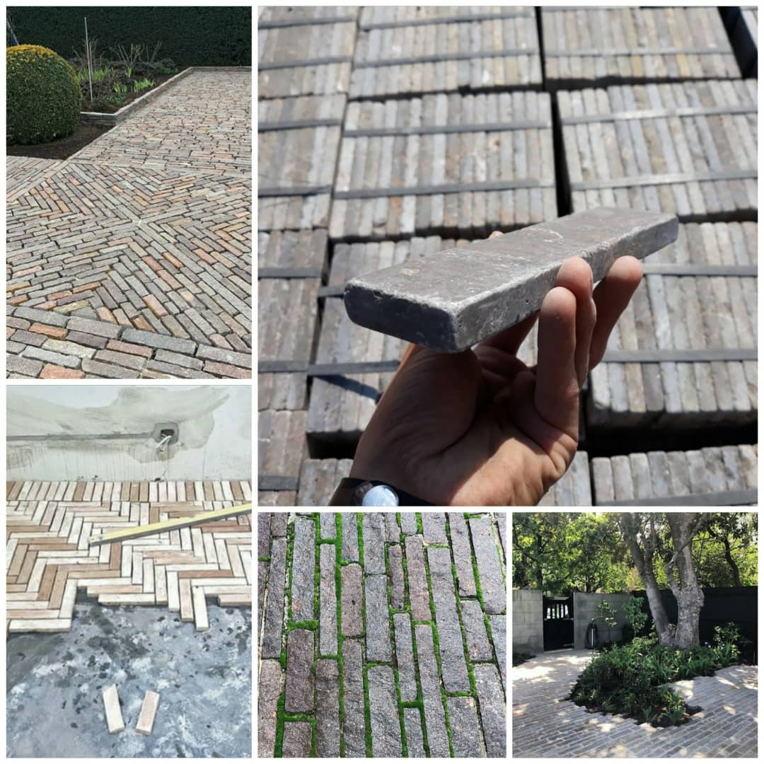 Gray Marble Tumbled Paving Stones