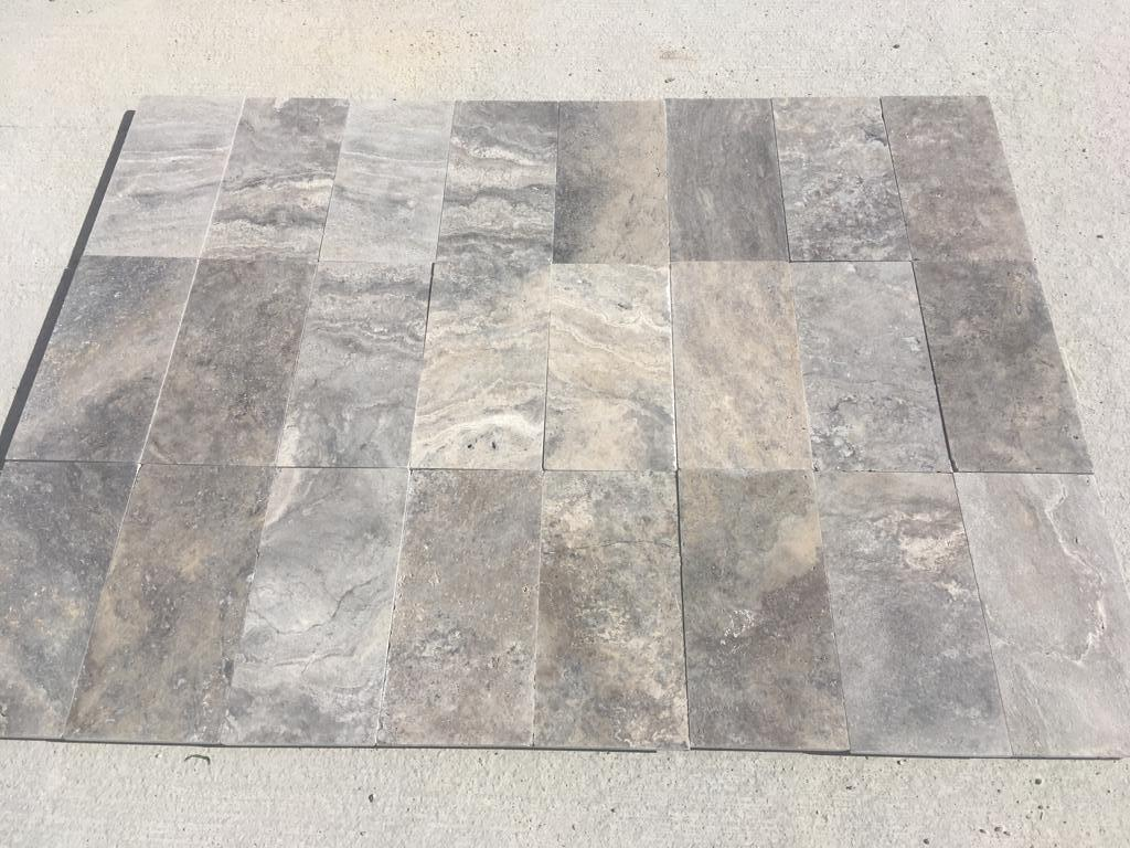 Silver Travertine Flooring Tiles