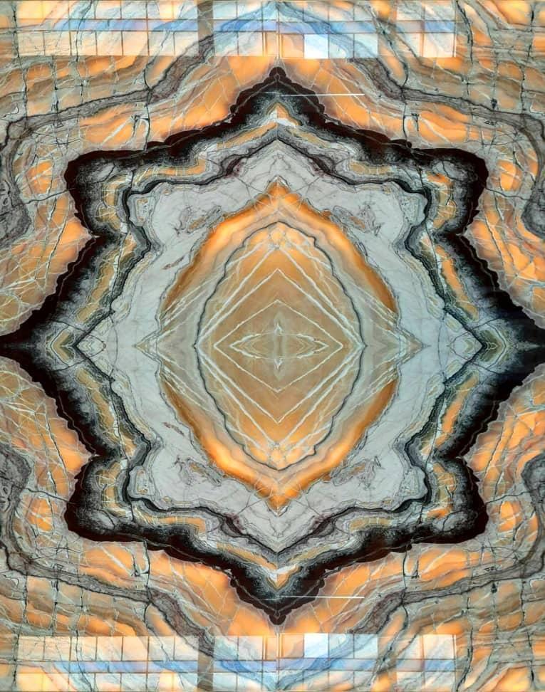 Orange volcanic onyx four match