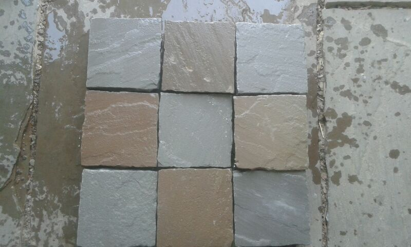 kandla grey sandstone cobbles palisade