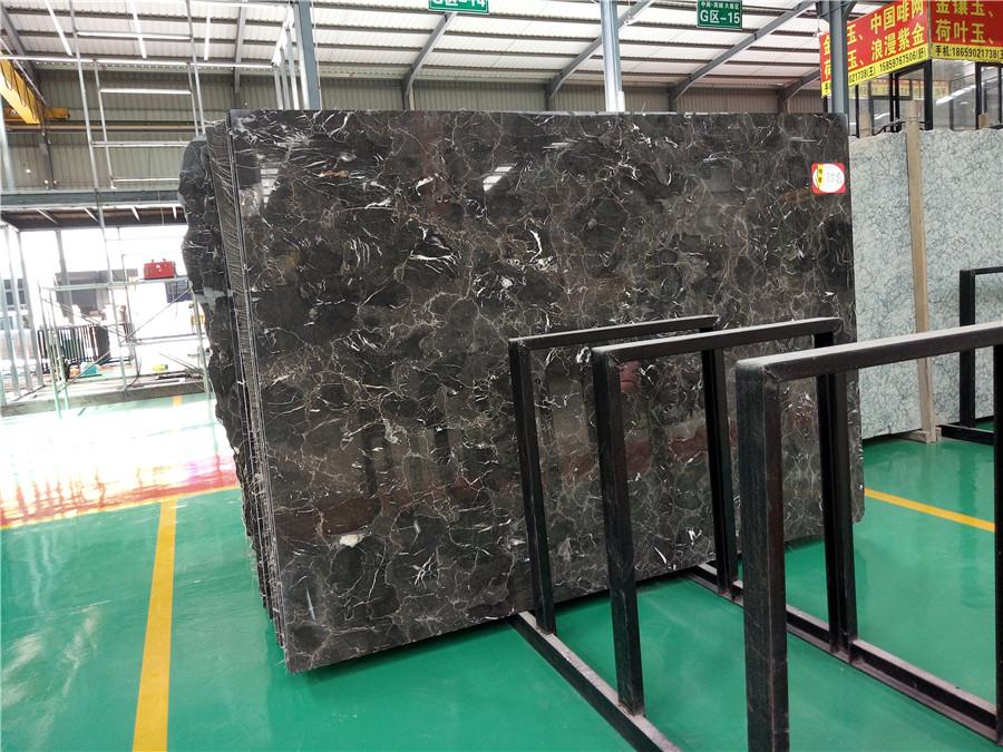 China Dark Emperador  Coffee Brown Marble Slab